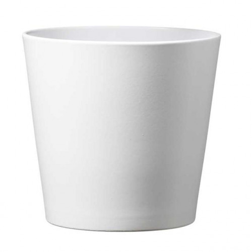 Dallas Esprit Ceramic Pot Matte White (13Cm)