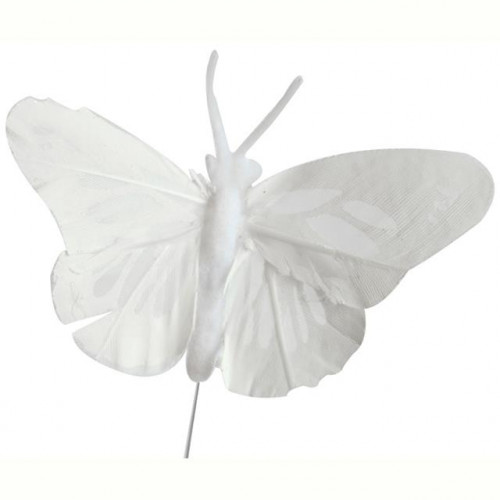 "2.75""Feath Butterfly X12 White"