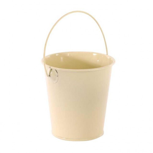 Zinc Drop In Bucket Cream 9Cm