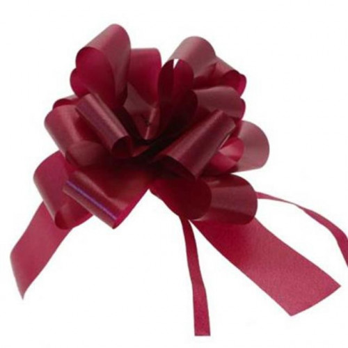 31Mm Burgundy Pullbow-11 Pk30