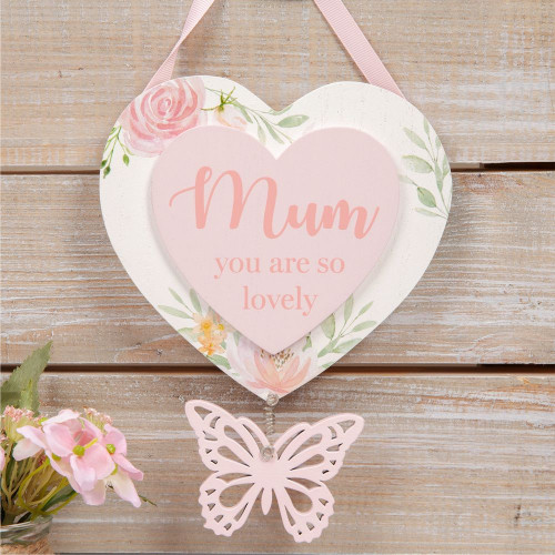 Sophia Hanging Heart Plaque Mum 23 Cm
